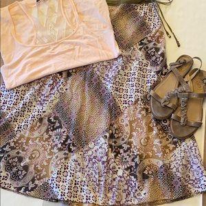 🌼BOGO FREE🌼XHILARATION S Midi Full Skirt BOHO